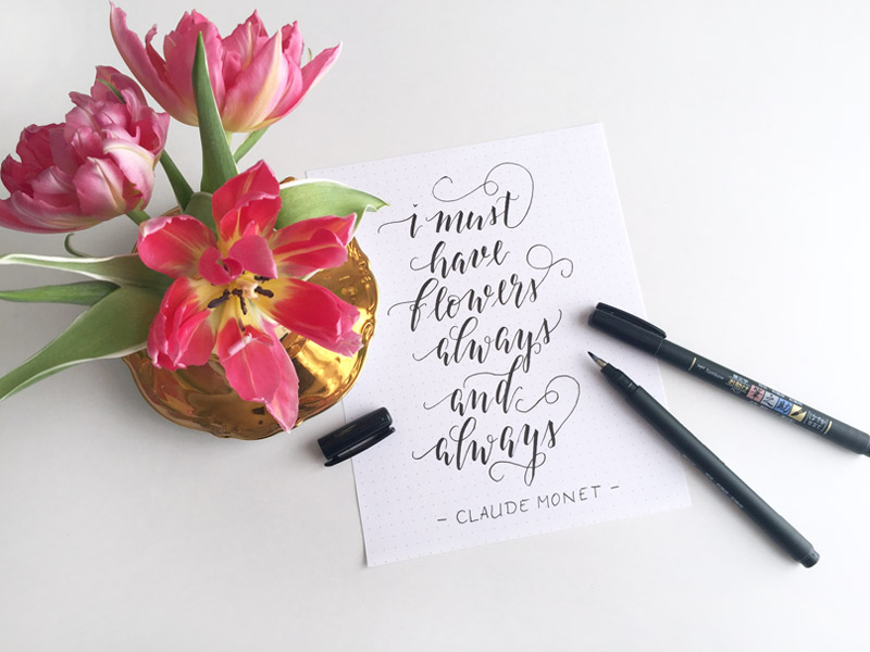 Zitate von Claude-Monet: I must have flowers always and always