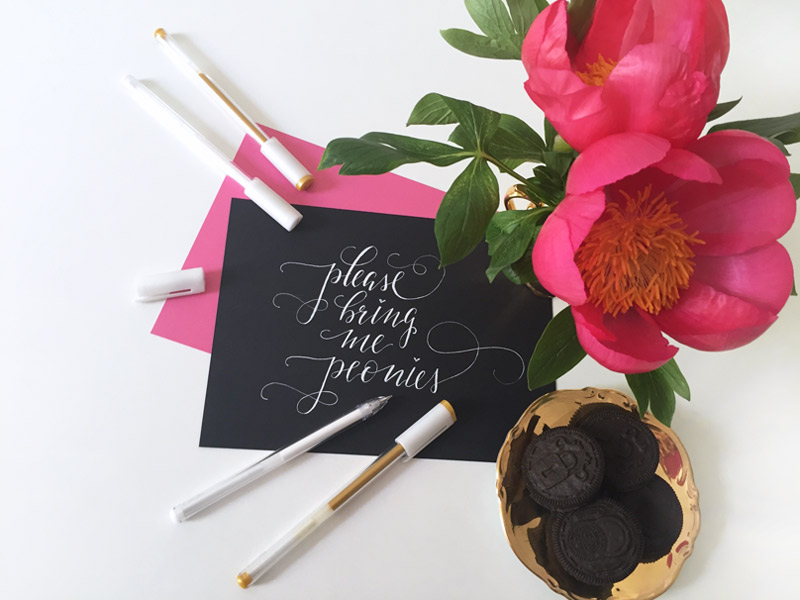 Dekoration mit Pfingstrosen: Please bring me peonies