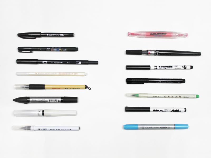 Die TOP 15 der Brush Pens von Berlin-Kalligraphie.de