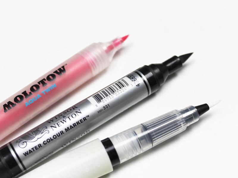 Bei den TOP 15 der Brush Pens liegen Molotow, Winsor & Newton und Kuretake Wink of Luna im Mittelfeld