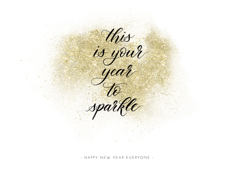 Kalligrafie zum Neujahr: This is your year to sparkle