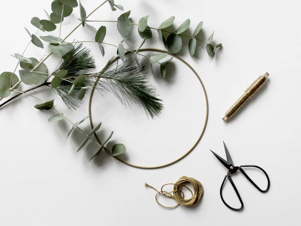 Eukalyptus-Kranz-Materialien