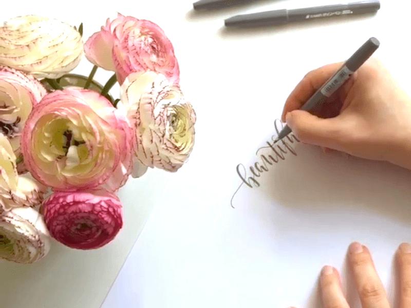 Kleine Schreibübung in Kalligraphie mit Video