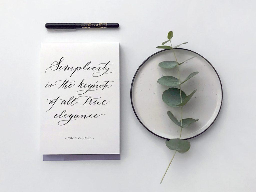 Einfach und schön